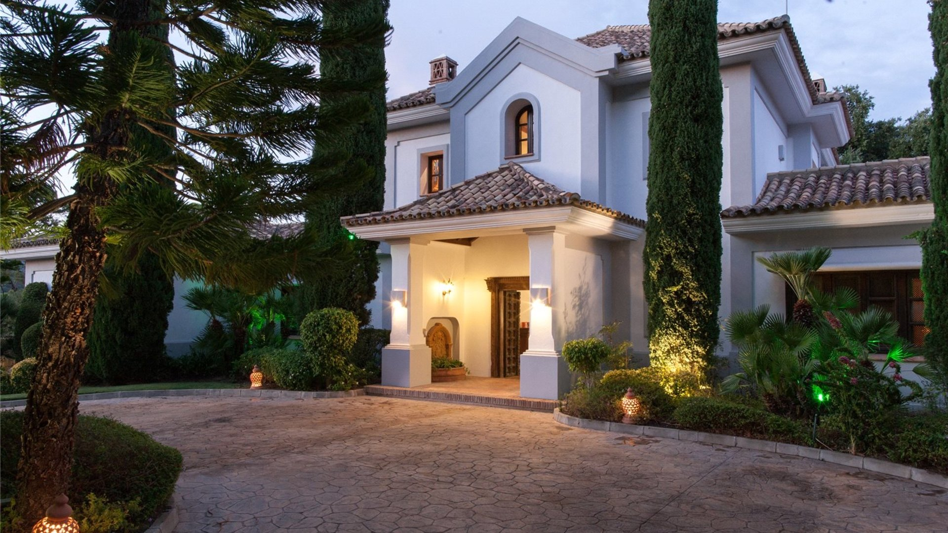 Villa At Night