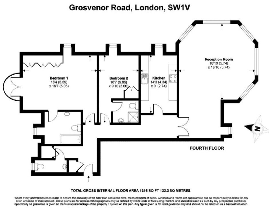 Grosvenor Road, Pimlico, London